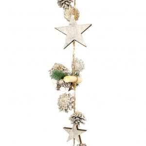 Star Spruce Garland with 20 warm white LED